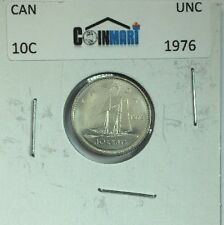 1976 Canadian Ten Cent Coin Uncirculated From A RCM Roll