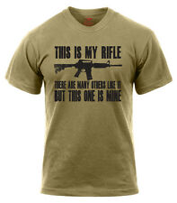 USMC US Marine Corps Riflemans Creed This is My Rifle Coyote Brown Tan T-Shirt