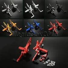CNC Adjustable Foot Pegs Rear Sets Rearset Footrest For Ducati 848 1098 1198