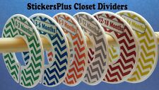 Custom Closet Size Dividers Clothes Organizer Baby Boy Colorful Chevron Nursery