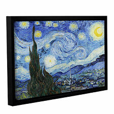ArtWall 'Vincent VanGogh's Starry Night (Lighter version)' Gallery Wrapped Float