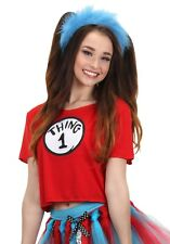 Dr. Seuss Thing 1&2 Womens Juniors Costume Kit Shirt and Headband Cat in the Hat
