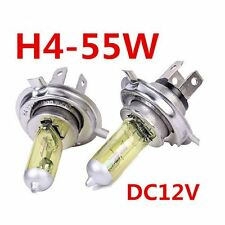 2x Light Bulbs 4300K Halogen Xenon H4 12V 55W 100W Yellow Car Fog Light Bulb New