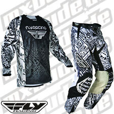 Fly Racing Evolution Pants + Jersey black and white Motocross Enduro Cross MTB