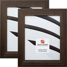"Craig Frames Country,  1.5"" Driftwood Black Wood Picture Frame, 2-Piece Set"