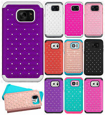 For Samsung Galaxy S7 HYBRID IMPACT Dazzling Diamond Case Phone Cover Accessory
