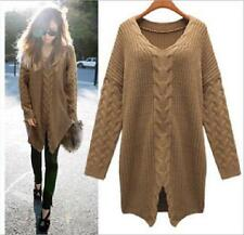 Chic Women Oversized Loose Knitted Sweater Batwing Sleeve Tops Cardigan Outwear