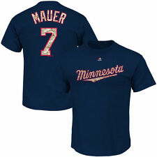 Joe Mauer Minnesota Twins Majestic DigiCamo Player T-Shirt - Navy