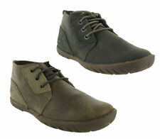 New Mens Caterpillar Leroy Mid Leather Casual Ankle Chukka Boots Size 7-12