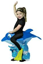 Funny Halloween Dolphin Rider Costume Toddler 4-6 3-4