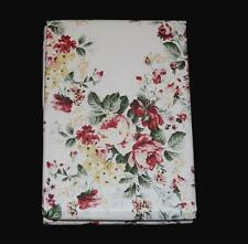 Laura Ashley JOYCE Chic Roses Floral Vinyl Flannel Back Rnd/Rect Tablecloth NIP