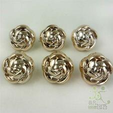 10/50pcs mixed sizes rose golden electroplate rose buttons lot craft sewing