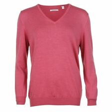 Ashworth Womens Ladies V Neck Sweater Sports Knitwear Jumper Long Sleeve Top