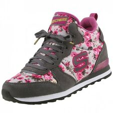 NEW Skechers Ladies Shoes High-Top Sneakers trainers Hidden Wedge Lace up
