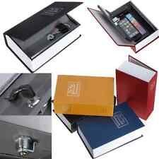 Dictionary Book Design Metal Case Cash Jewelry Security Safe Storage Box + Keys