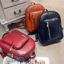 New Fashion PU Leather Travel Shoulder Women Satchel Backpack School Bag Handbag