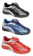 Ascot Madrid Football Astro Turf Boys Trainers Shiny Velcro Boots Shoes UK2-6