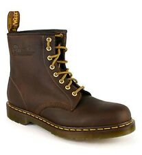 Mens Dr Martens 1460 Crazy Brown Leather 8 Eye Ankle Unisex Boots Size 6-13 UK