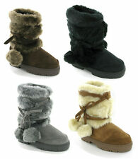 WOMENS ELLA FASHION FUR LINED SNUGG WARM WINTER ANKLE BOOTS UK 3-8