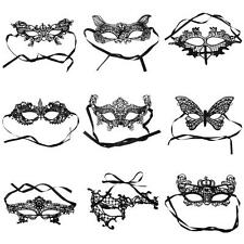 Sexy Black Stunning Venetian Masquerade Lace Eye Mask Fancy Dress Ball Party