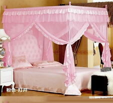 Pink Four Corner Post Bed Canopy Mosquito Netting Or Frame Post All Size MLA