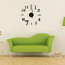Modern DIY Wall Clock 3D Sticker Design Home Office Decoration Creative Clock