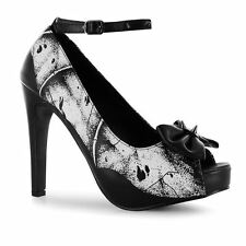Iron Fist Womens Platform Heels Shoes Print Open Toe Ankle Strap Footwear