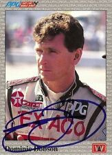 Dominic Dobson 1991 All World Indy Signed Card Auto