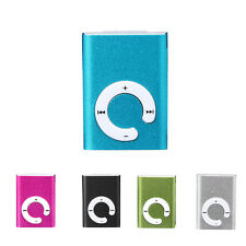 Mini Clip Metal USB MP3 Player Support Micro SD TF Card Music Media Portable