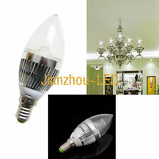 5PCS E14 4W Dimmable Candle Bulb Lamp Base Cold White LED DIM Light AC 85V-265V