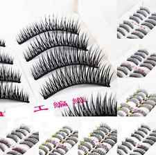 10 Pairs Natural Long Thick Black False Eyelashes Charming Eye Lashes Makeup