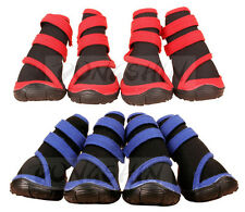 Pet Dog Waterproof Boots Cat Shoes Blue Red Puppy Booties Paws Resistant Injury
