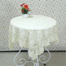 Floral Lace Tablecloth Tea Table Cover Dustproof Square Cloth Home Fridge Decor