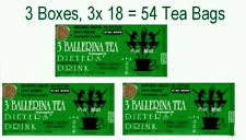 3 Ballerina Tea Dieters Drink (Extra Strength) - 3 Boxes x 18 Tea Bags QW