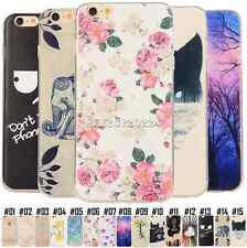 Fashion Pattern Slim Rubber Soft TPU Gel Case Cover Back Skin For Apple iPhone