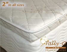 NEW CALKING Tally-O Talalay Mattress Pad with Quilted Organic Cotton Cover 72x84