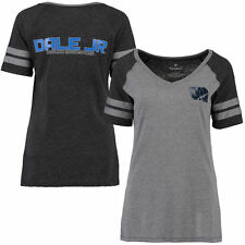 Women's Gray/Black Dale Earnhardt Jr. Stealth Pop Fashion V-Neck T-Shirt