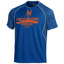 New York Mets Under Armour Apex Print Performance T-Shirt - Royal - MLB