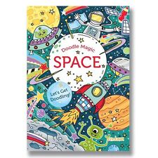 DOODLE MAGIC SPACE ~ Childrens doodle colouring book. Great Gift