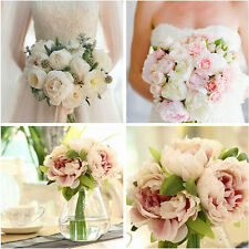 Creative 5 Heads Artifical Silk Peony Flower Bridal Wedding Party Home Decor