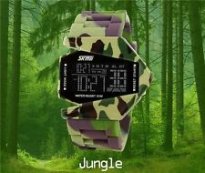 Military LED Colorful Light Digital Sport Stealth Fighter Silicone Wrist Watch