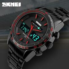SKMEI Men Quartz Sport Army Wrist Watch LCD Date Stopwatch Alarm Waterproof J0S1