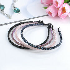 Women Girl Fashion Shine Chic Bead Crystal Headband Head Piece Hair Band Jewelry