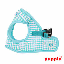 Dog Puppy Harness Soft Vest- Puppia - Aggie - Aqua Blue - Choose Size