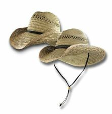 Straw Western Cowboy Hat Distressed Shapeable Beach Sun Size S/M L/XL Mens