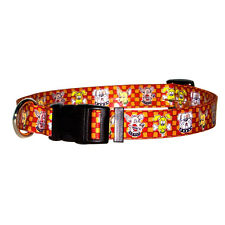 Dog Puppy Designer Collar - Yellow Dog - Made In USA - Wacky Dogs