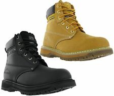 Mens Groundwork SK21 Leather Lace Safety Steel Toe Cap Work Boots