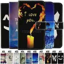 Painted Stand Pattern Holder PU Leather Protective Luxury Case Cover For iPhone