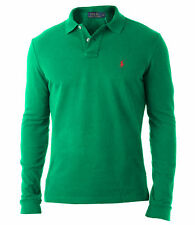 RALPH LAUREN Polo Shirt CLASSIC FIT long sleeve green M,L,XL,XXL