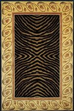 Momeni New Wave 09 Black Area Rug Modern Contemporary Wool Living Room All Sizes